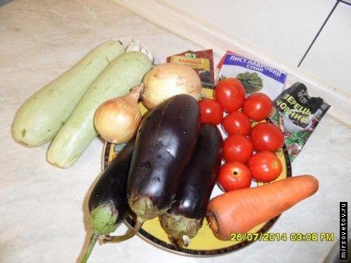 Рецепт соте з овочів