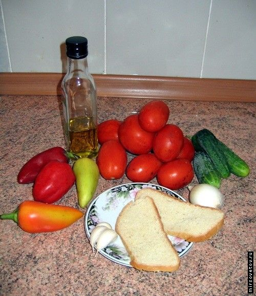 Рецепт супу гаспачо