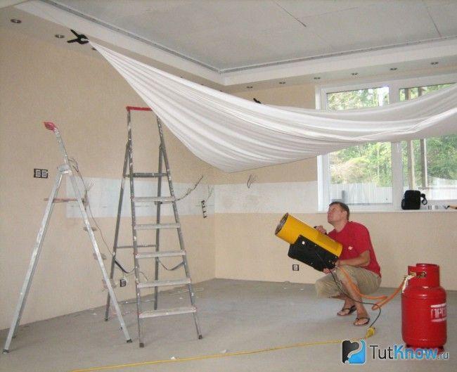 Заміна натяжної стелі
