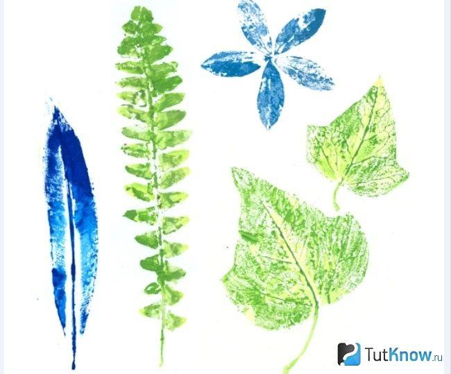 малювання листям