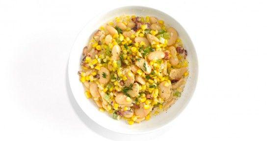 Салат з кукурудзою і бобами