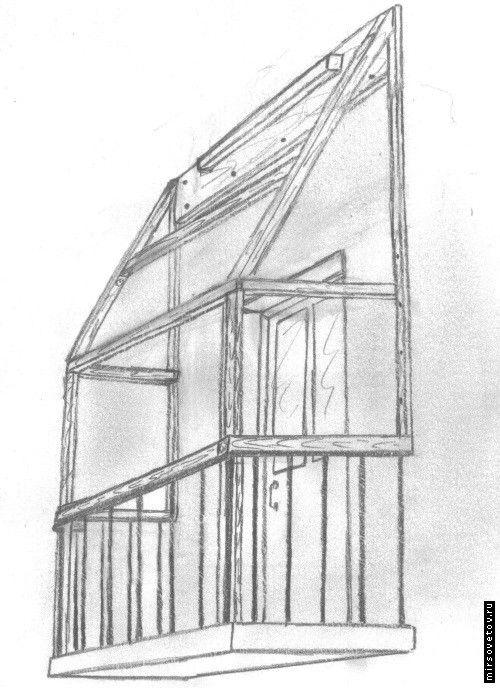 Самостійна установка даху на балконі