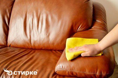регулярний догляд за меблями зі шкіри