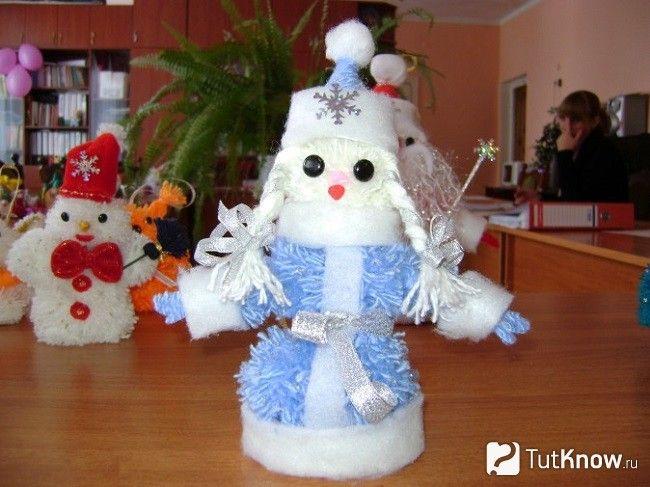 Снігуронька з помпонами