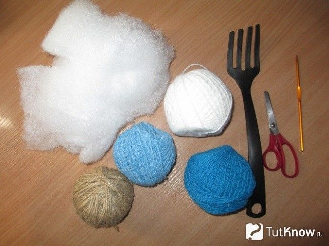 Матеріали для створення ялинки з помпонами