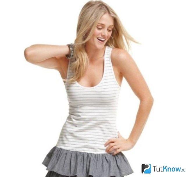 Сукня з трикотажу на швидку руку