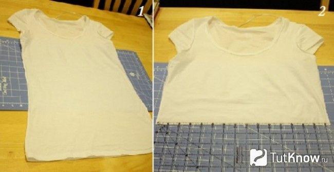 Обрізана для сукні футболка