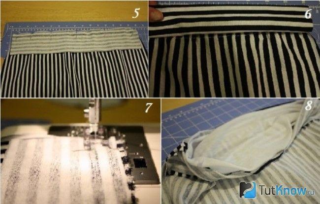 Пристрочування тканини до футболці