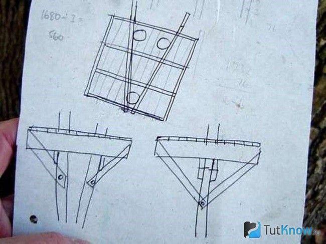 Схеми для кріплення будиночка на дереві