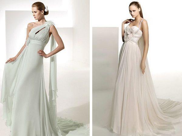 Кольорові весільні сукні