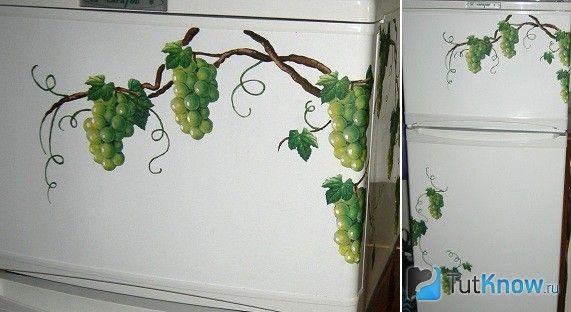 Декорування холодильника серветками