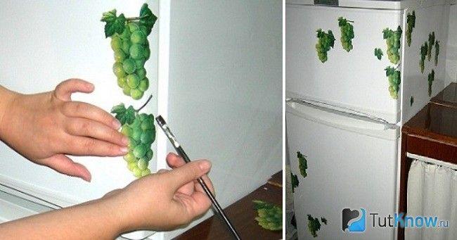 Покрокове декорування холодильника декупаж