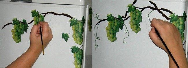 Розфарбування виноградної лози