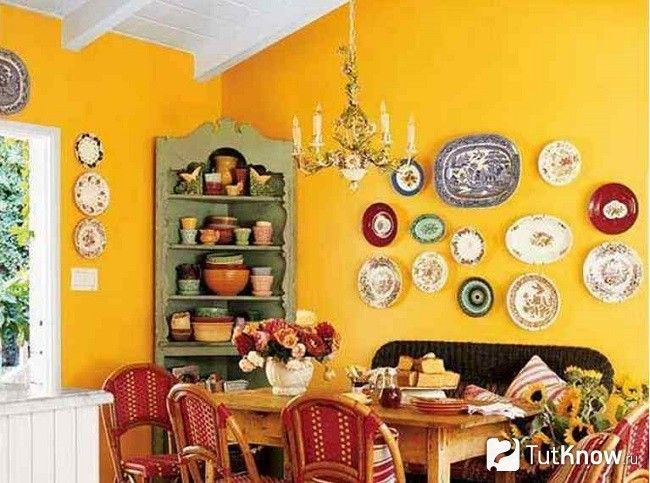 Декоровані стіни на кухні