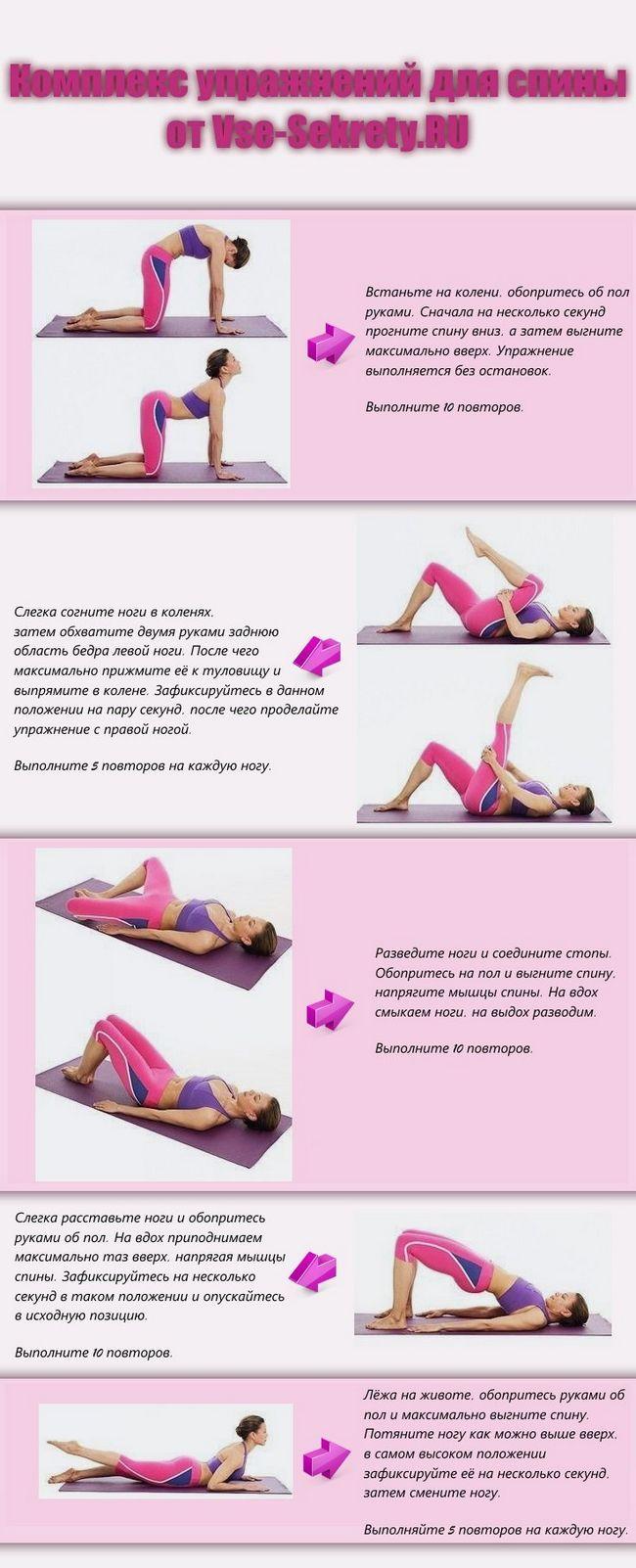 Інфографіка: комплекс вправ для спини