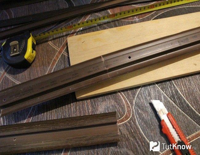 Як різати плінтус з кабель-каналом