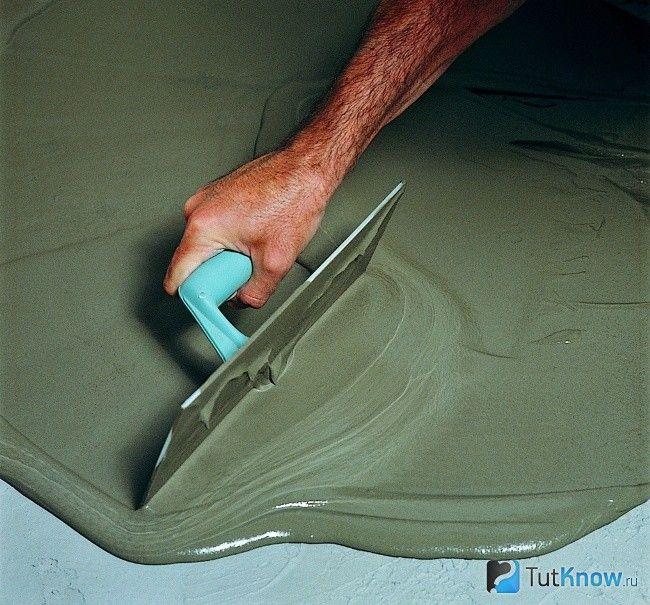 Вирівнювання чорнової підлоги