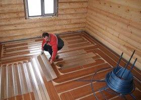 Водяна тепла підлога в лазні: інструкція з монтажу